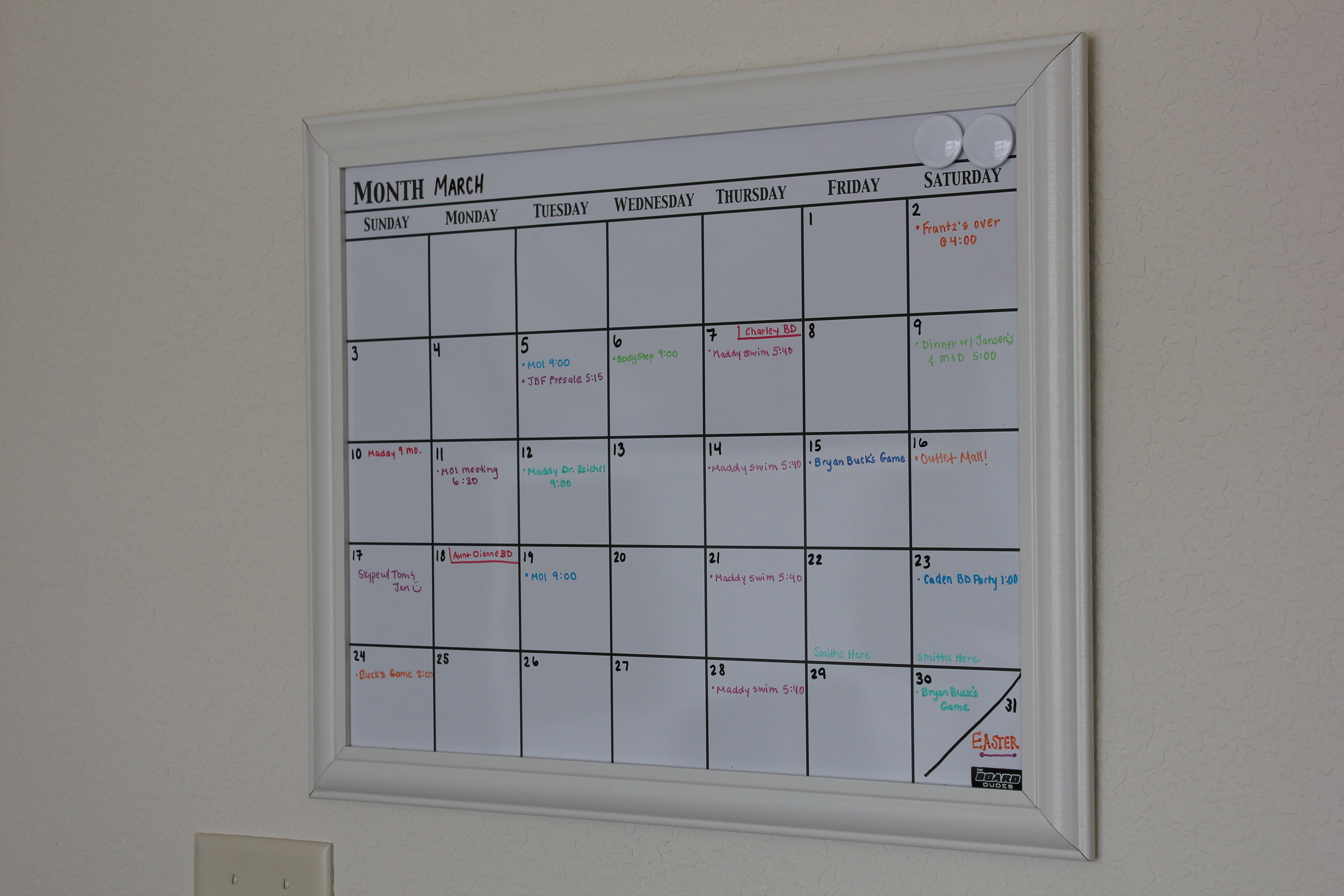 Blank Calendar Hobby Lobby : Office instruction manual organization calendar