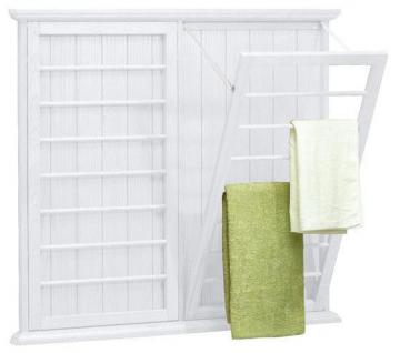 Laundry Room: Wall-Mounted Drying Rack | Simply Abby